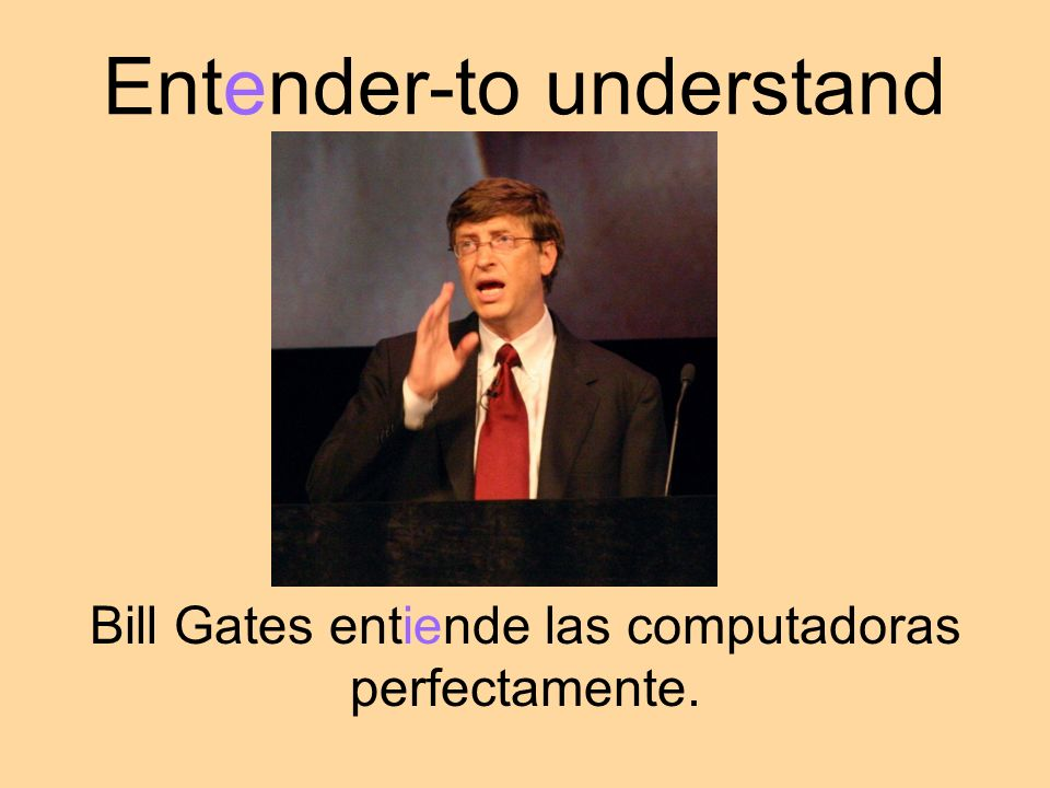 Entender-to understand