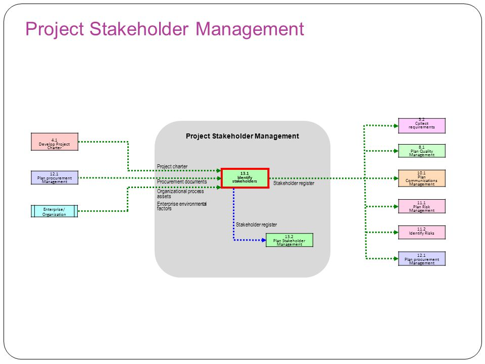 pmp identify stakeholders procurement document