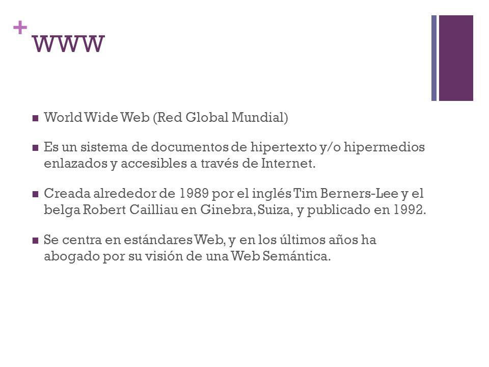 WWW World Wide Web (Red Global Mundial)