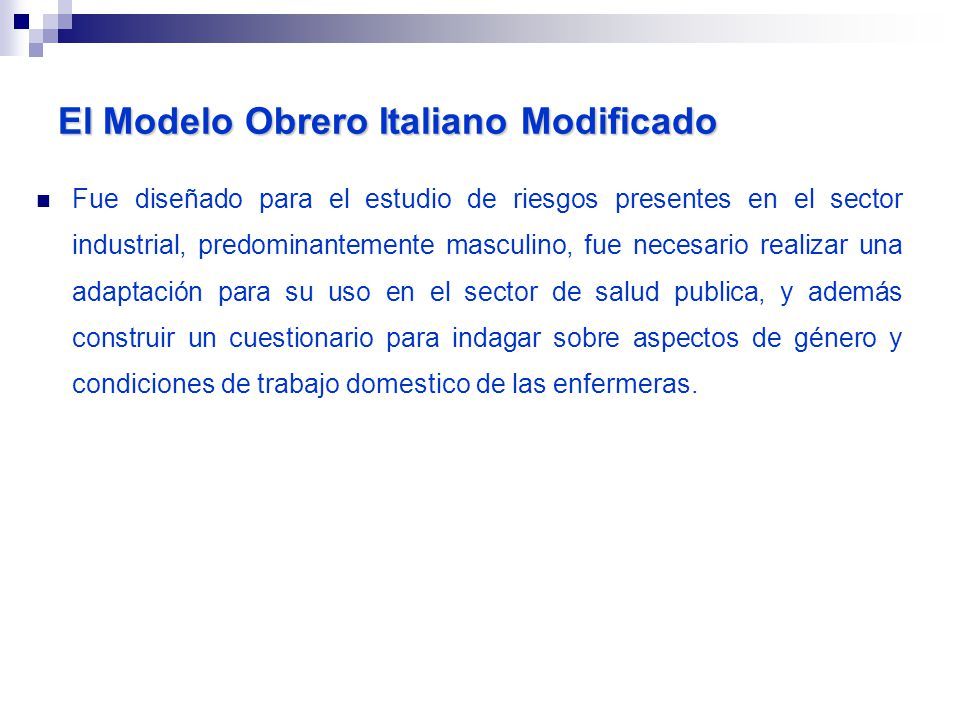 El Modelo Obrero Italiano Modificado