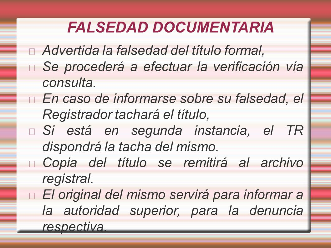 FALSEDAD DOCUMENTARIA