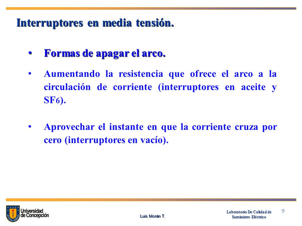 Interruptores en media tensión.