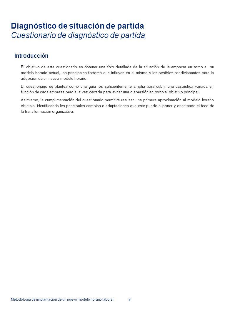 Área 1 Metodología de implantación de un nuevo modelo horario ...