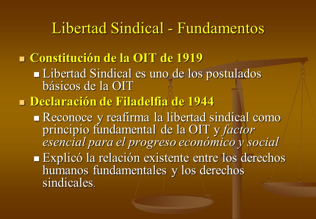 Libertad Sindical - Fundamentos