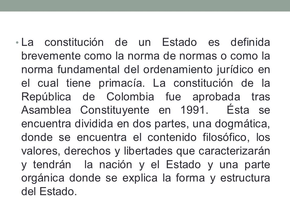 Estructura De La Constitución Politica De Colombia Ppt