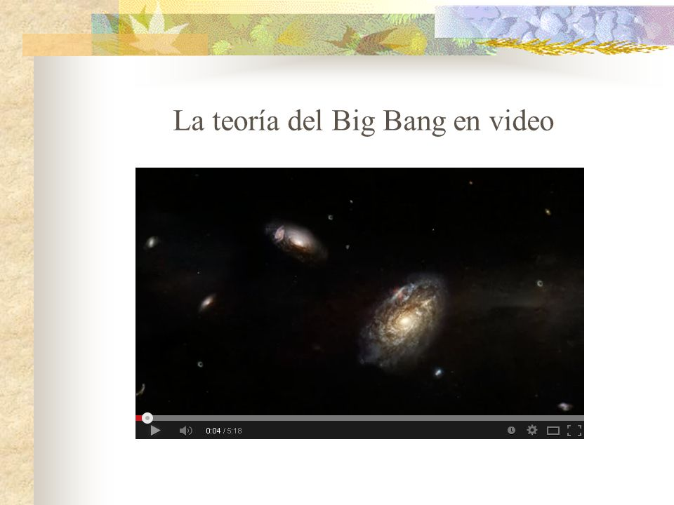 La teoría del Big Bang en video