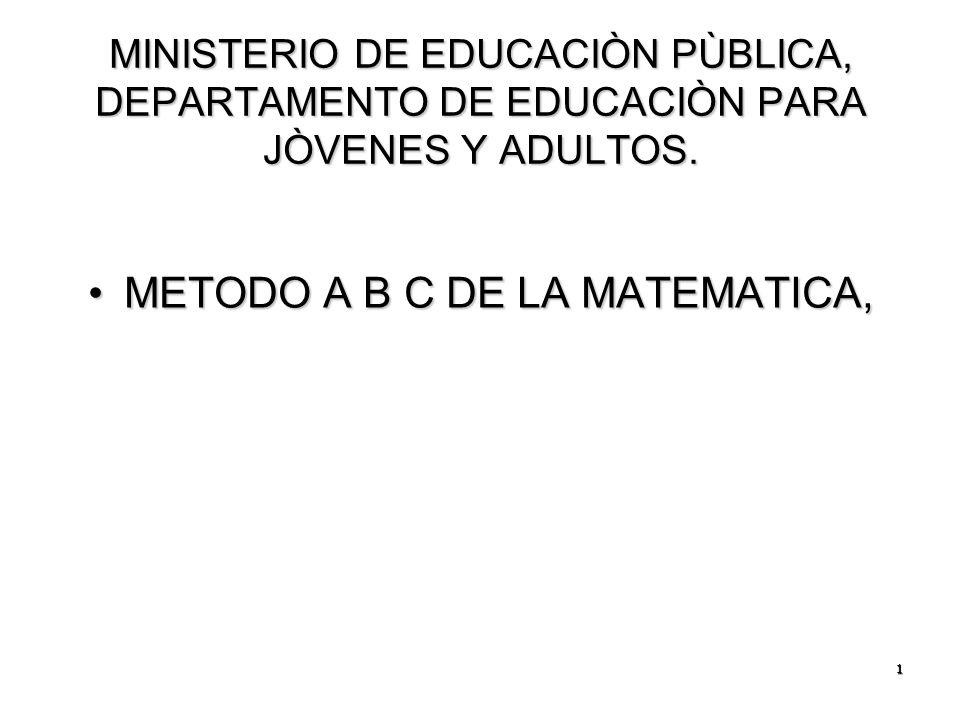 METODO A B C DE LA MATEMATICA, - ppt descargar