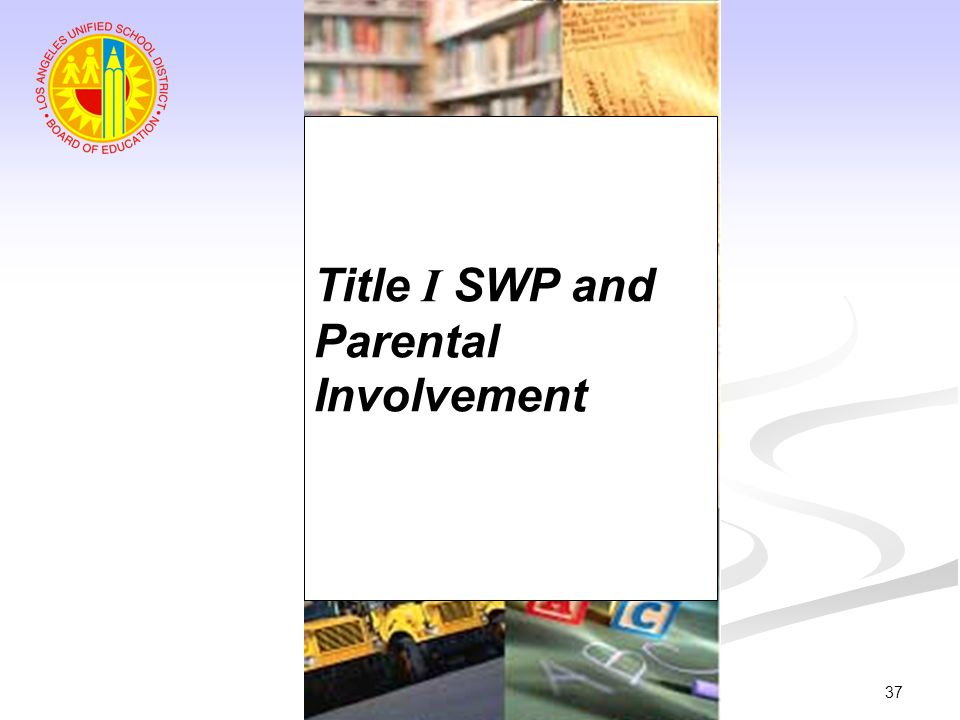 Title I SWP and Parental Involvement