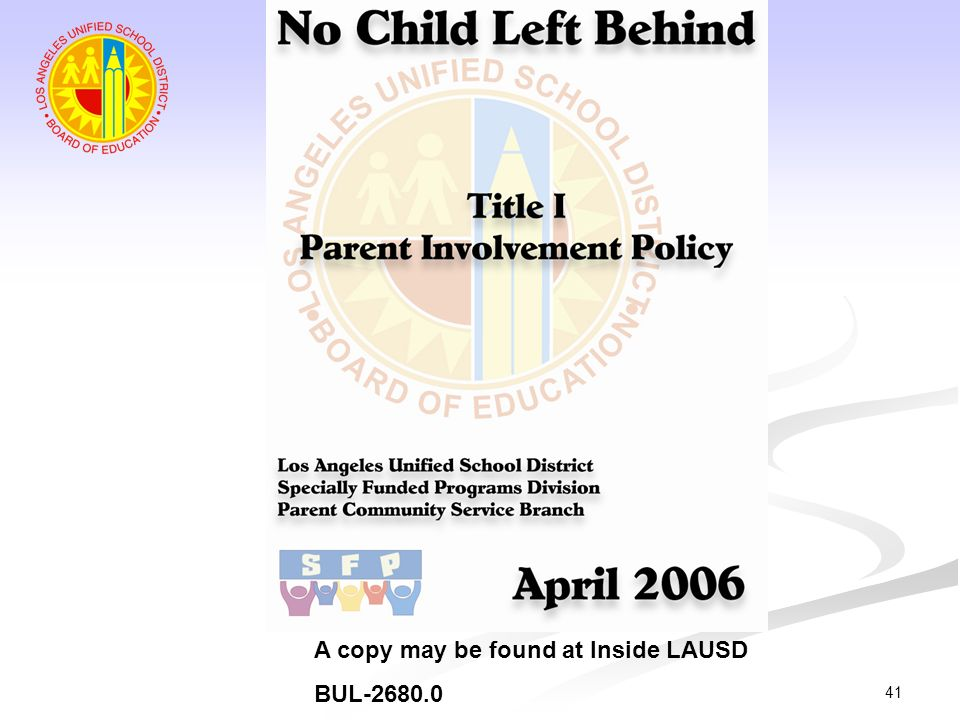 A copy may be found at Inside LAUSD