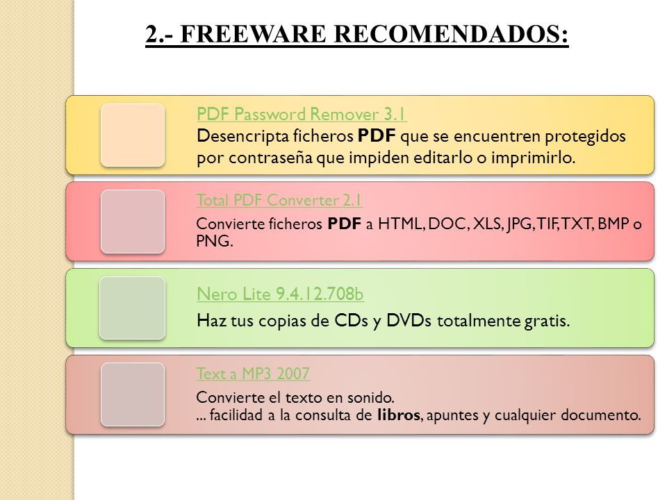 2.- FREEWARE RECOMENDADOS: