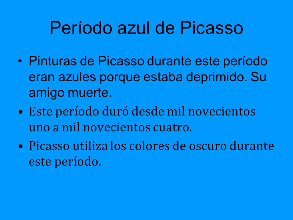 Periodo Rosa De Picasso Ppt Descargar