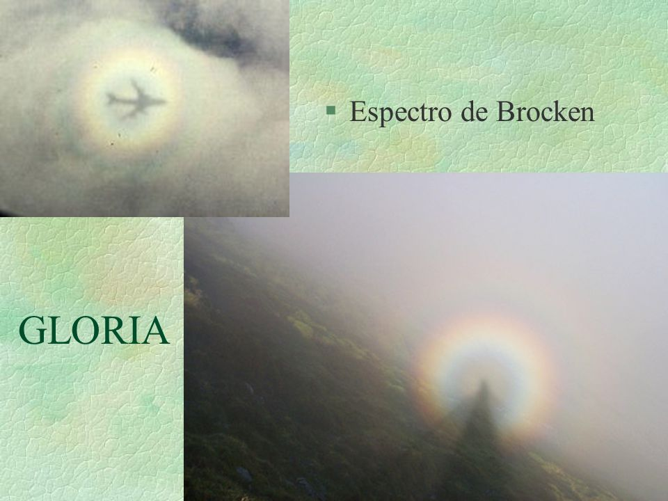 Espectro de Brocken GLORIA