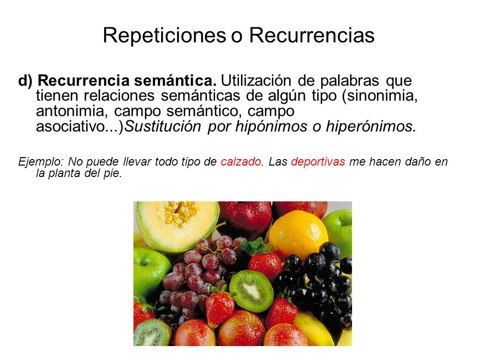 Repeticiones o Recurrencias