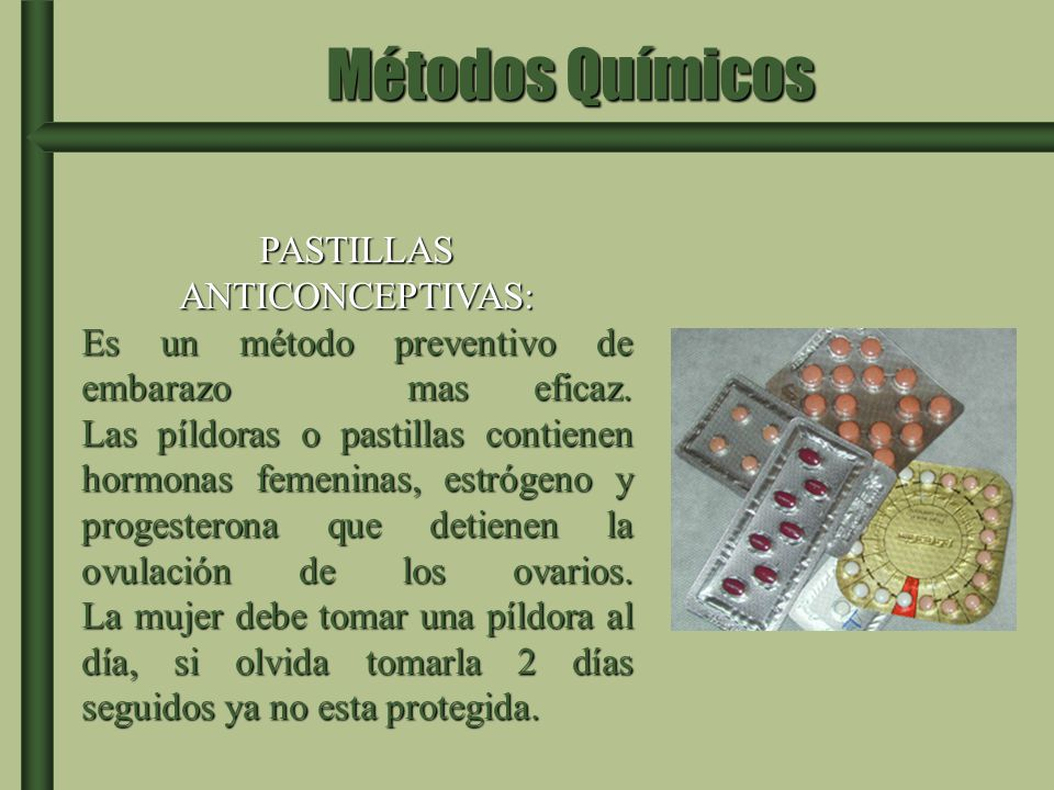 PASTILLAS ANTICONCEPTIVAS: