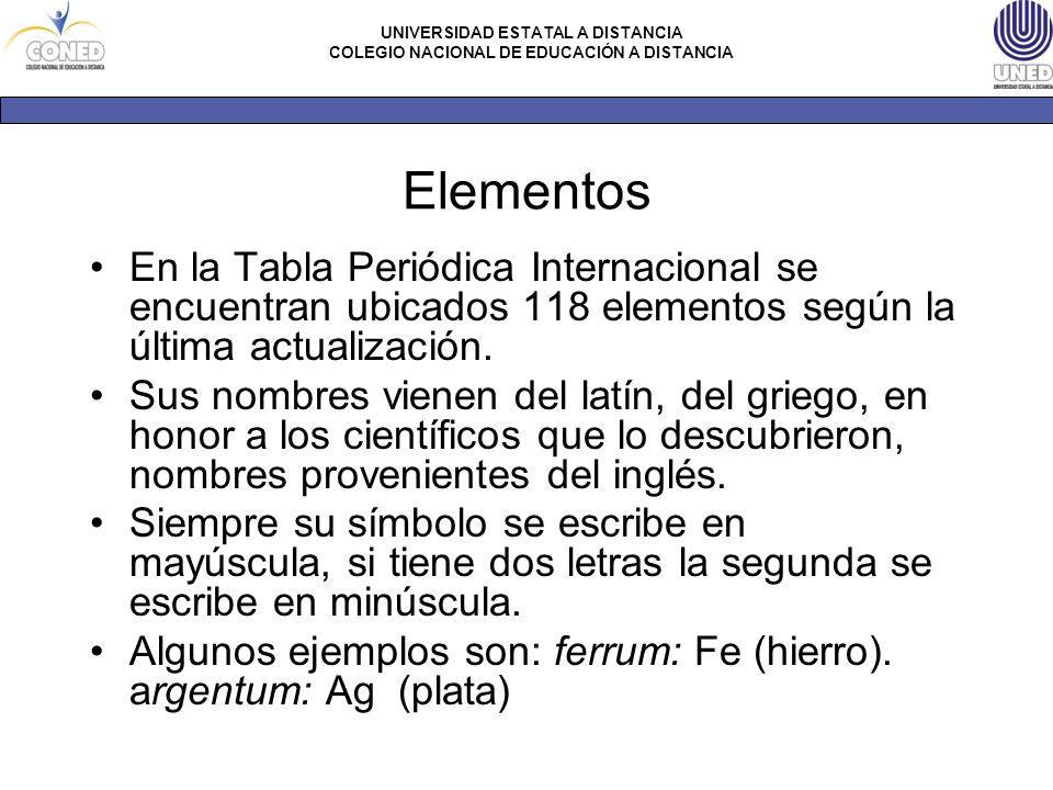 Materia ciencias naturales nivel octavo ppt descargar elementos en la tabla peridica internacional se encuentran ubicados 118 elementos segn la ltima actualizacin urtaz Choice Image