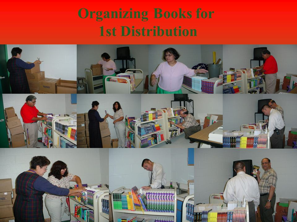 Organizing Books for 1st Distribution