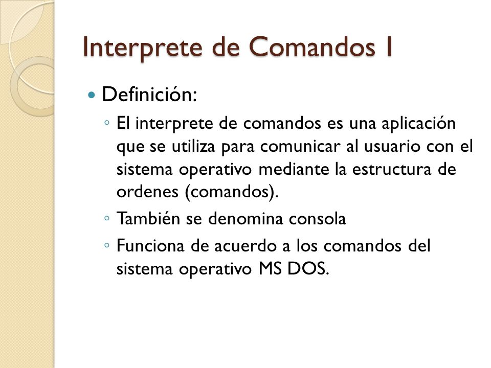 Interprete de Comandos I