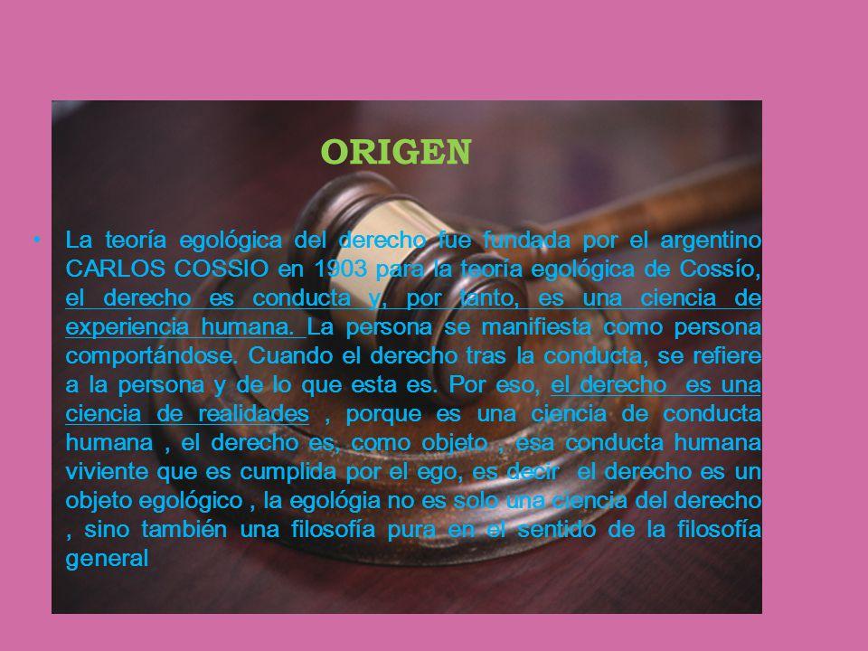 teoria egologica del derecho carlos cossio