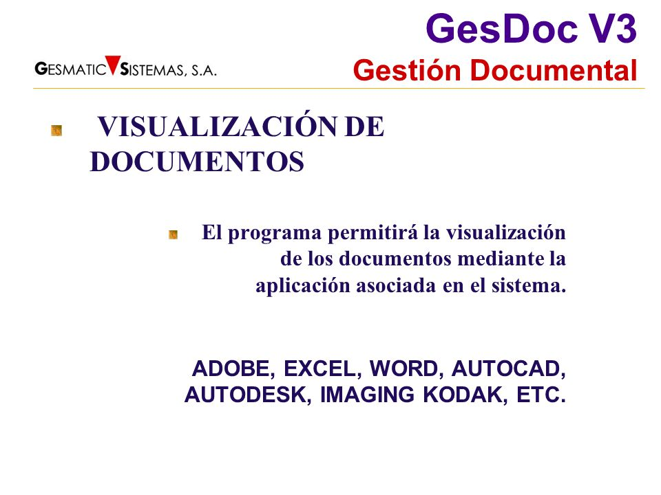 VISUALIZACIÓN DE DOCUMENTOS