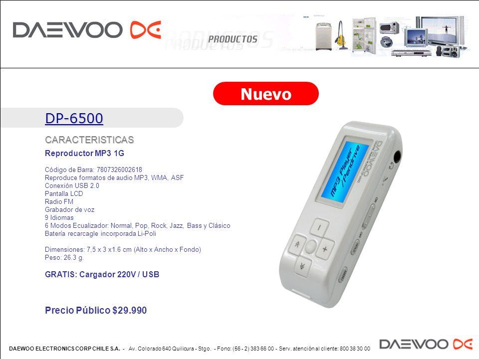 Nuevo DP-6500 CARACTERISTICAS Precio Público $ ppt descargar
