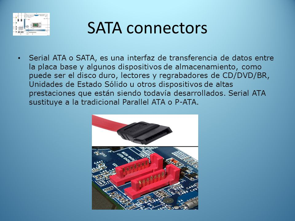 SATA connectors