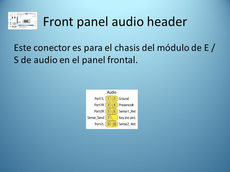 Front panel audio header