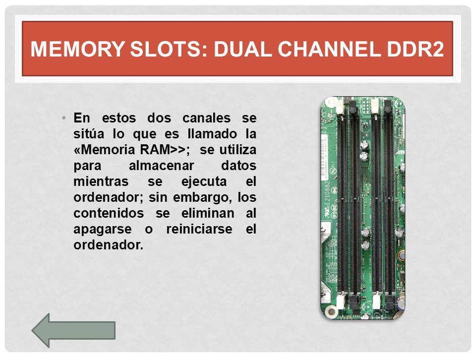 Memory slots: dual channel DDR2