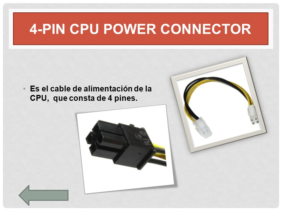 4-pin CPU POWER CONNECTOR