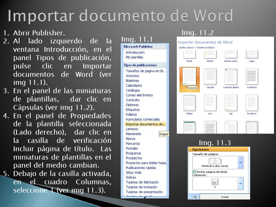 Importar documento de Word