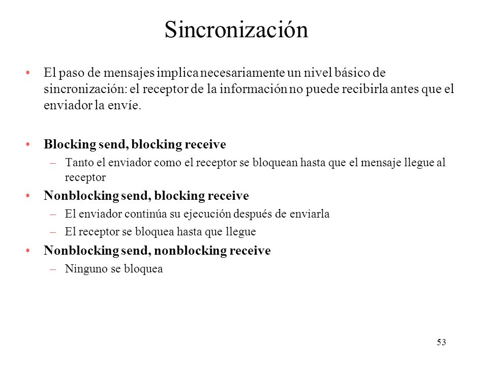 Sincronización