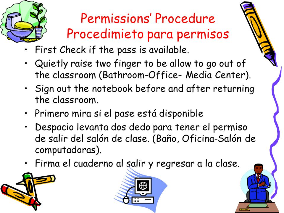 Permissions' Procedure Procedimieto para permisos