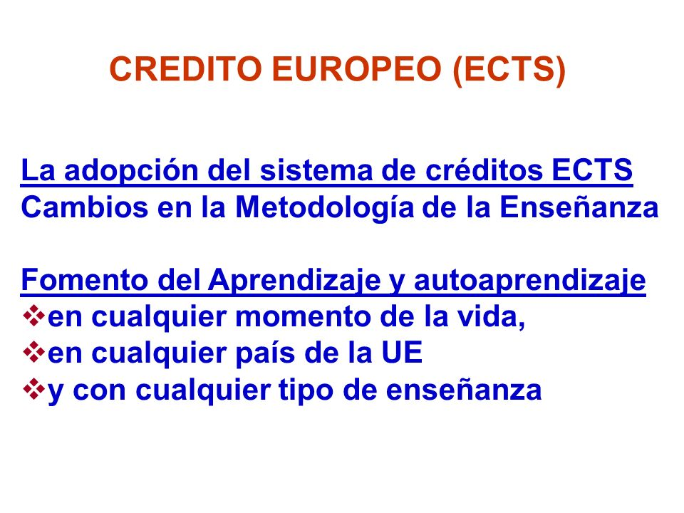 CREDITO EUROPEO (ECTS)