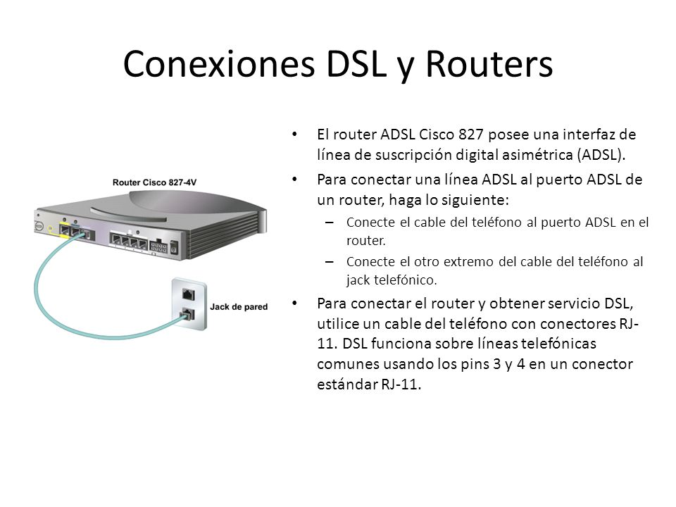 Conexiones DSL y Routers