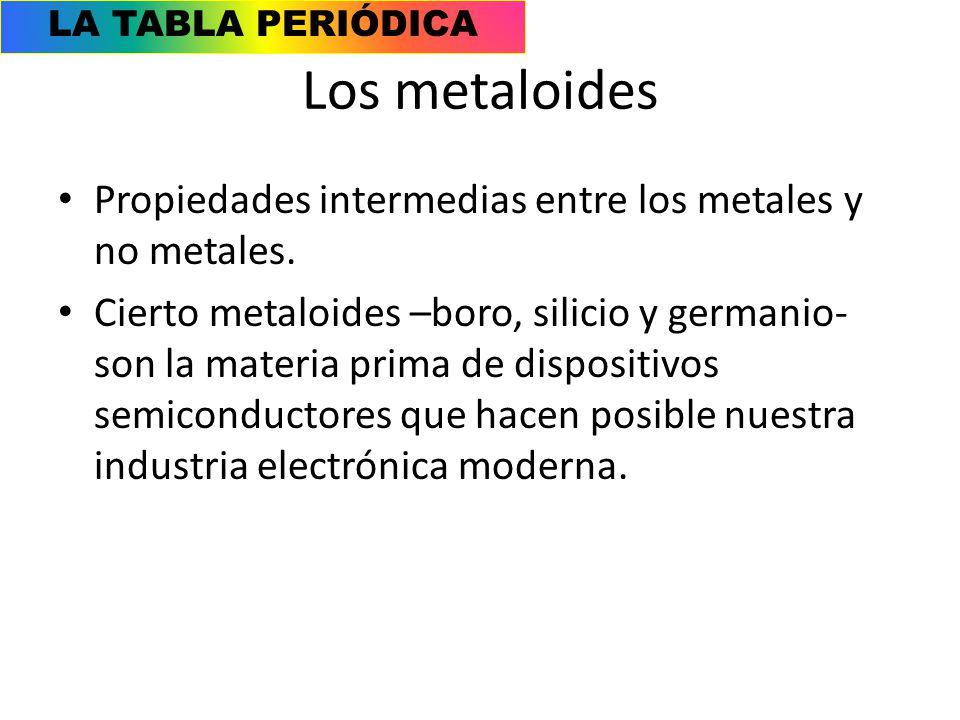 Caractersticas generales ppt video online descargar los metaloides propiedades intermedias entre los metales y no metales 31 la tabla peridica los metaloides urtaz Image collections