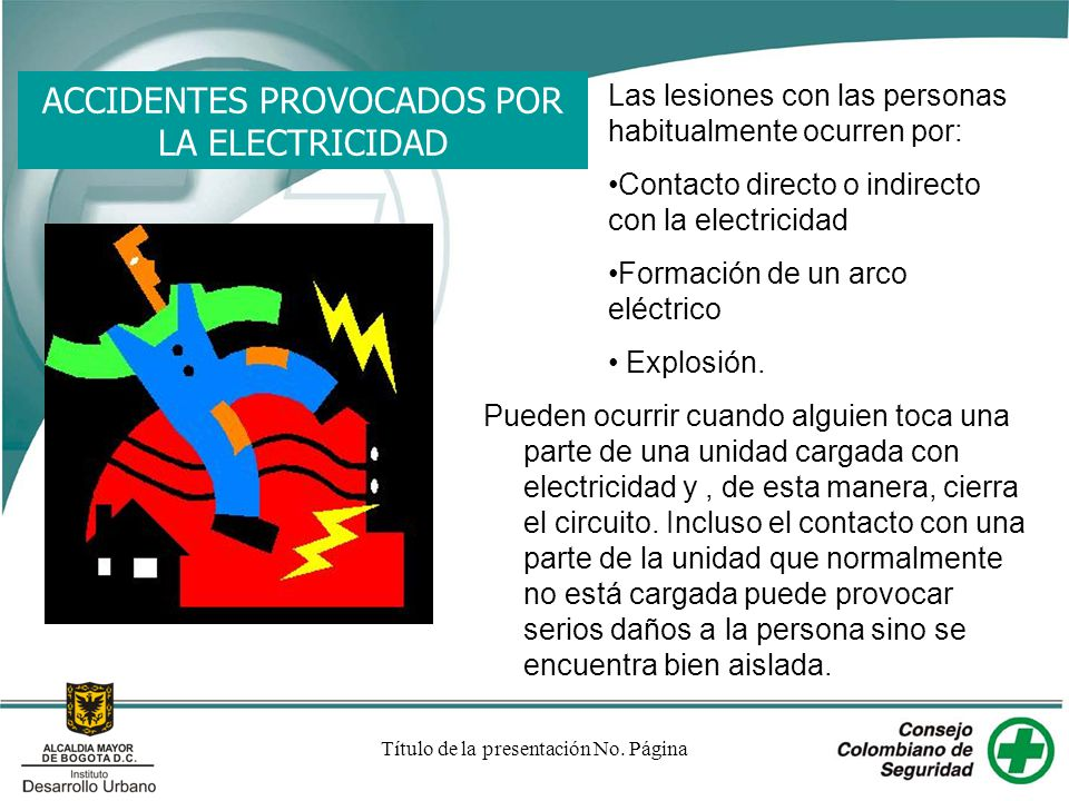 ACCIDENTES PROVOCADOS POR LA ELECTRICIDAD