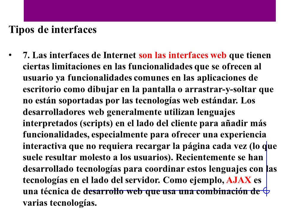Tipos de interfaces