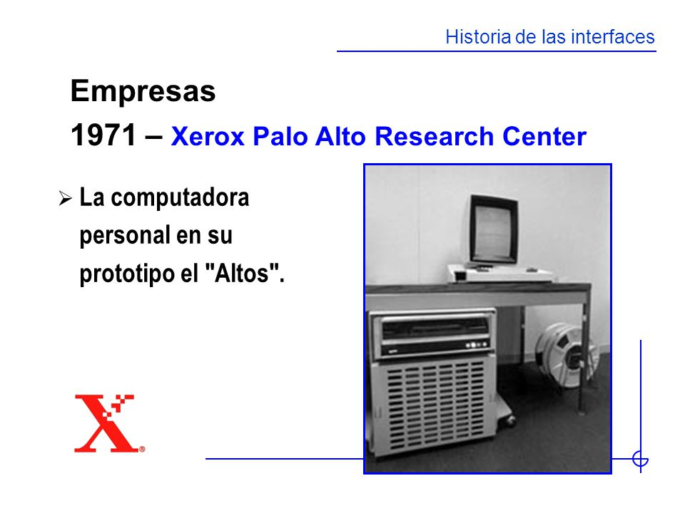 1971 – Xerox Palo Alto Research Center