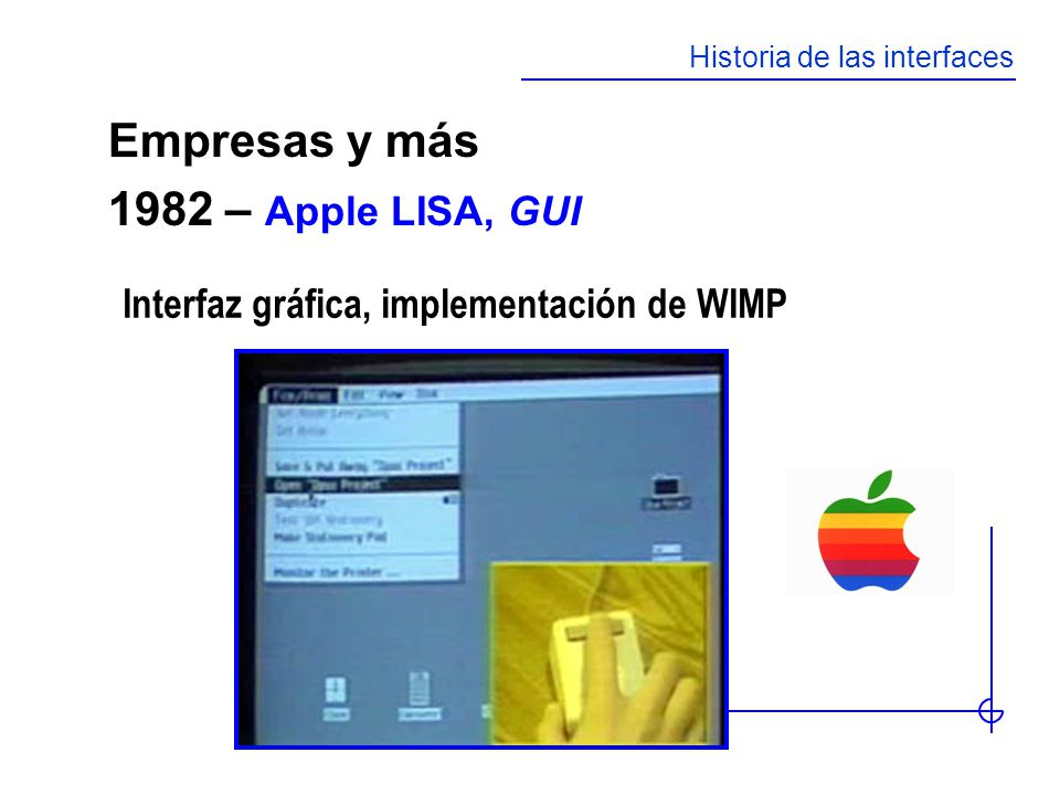 Empresas y más 1982 – Apple LISA, GUI