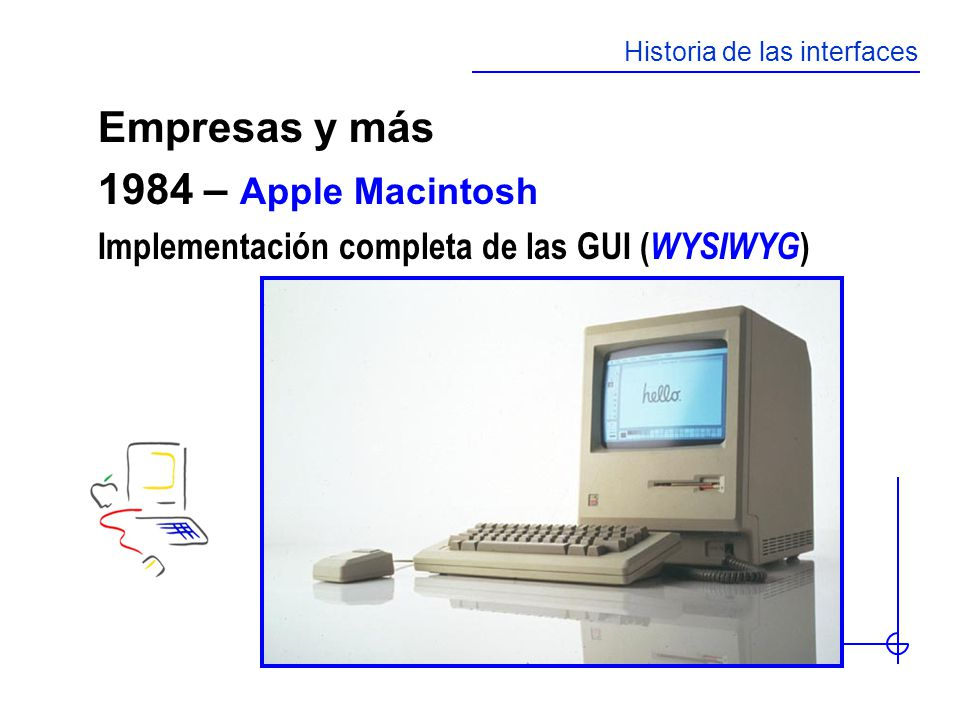 Empresas y más 1984 – Apple Macintosh