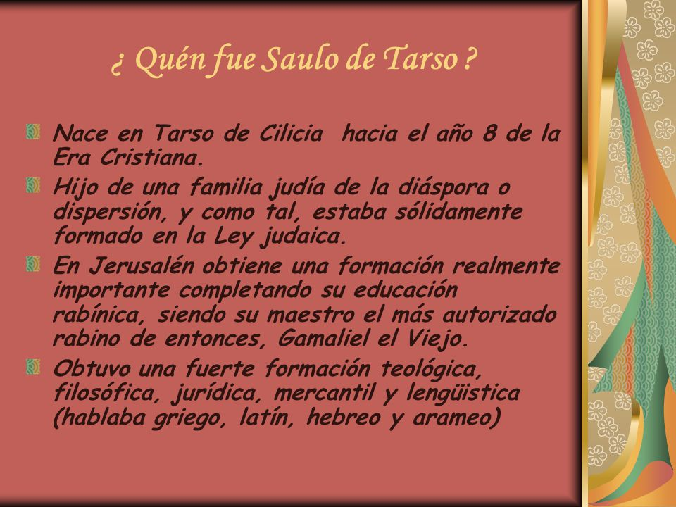 De Saulo De Tarso A San Pablo Ppt Video Online Descargar