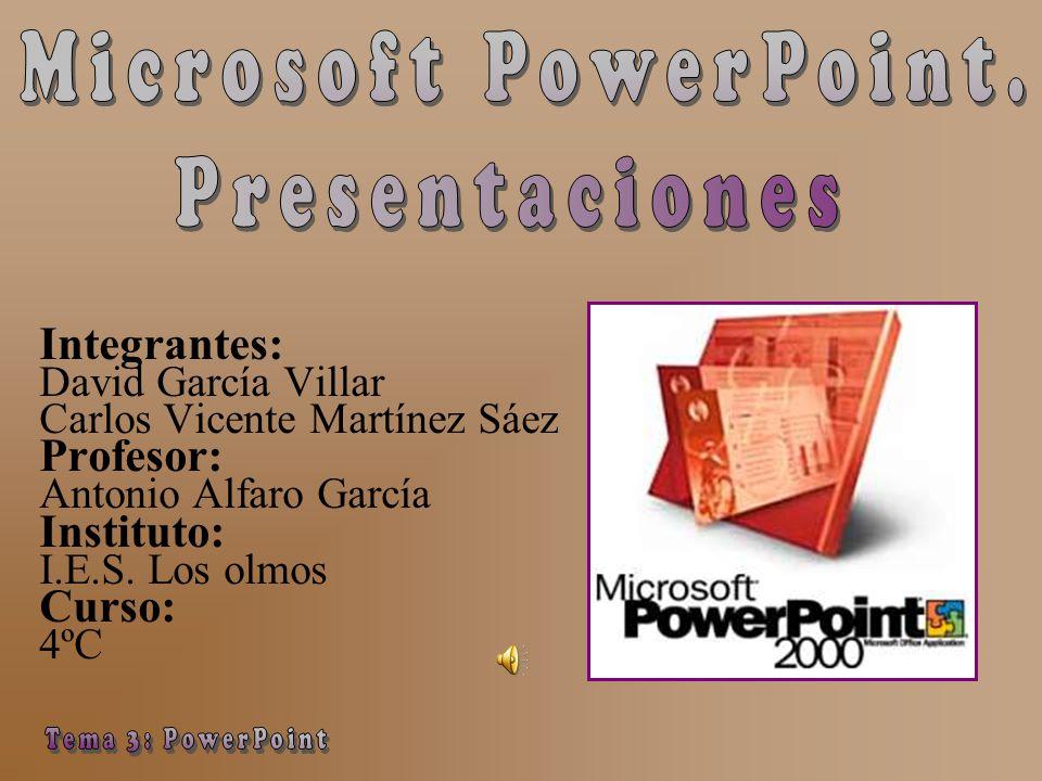 microsoft powerpoint presentaciones tema 3 powerpoint integrantes