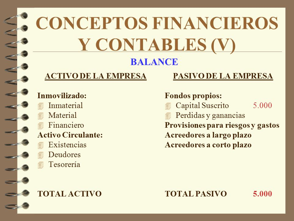 CONCEPTOS FINANCIEROS Y CONTABLES (V)