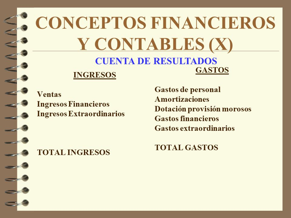 CONCEPTOS FINANCIEROS Y CONTABLES (X)
