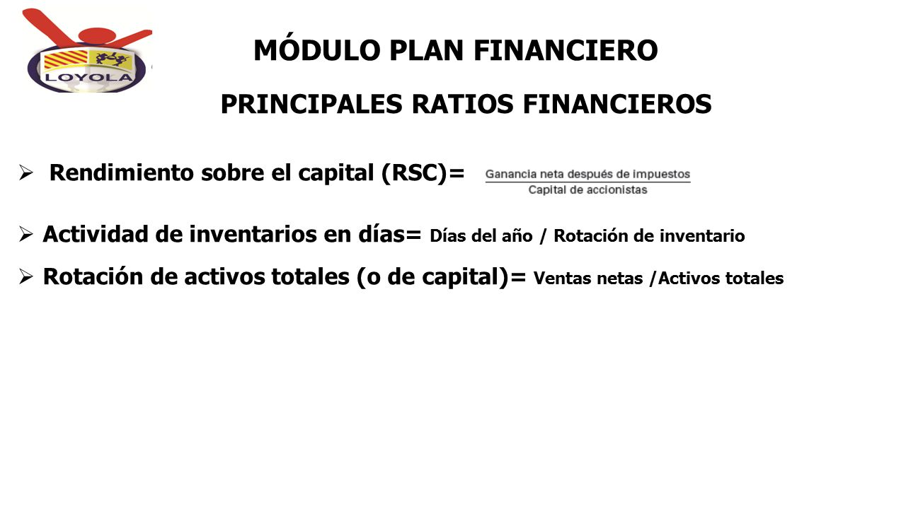 PRINCIPALES RATIOS FINANCIEROS