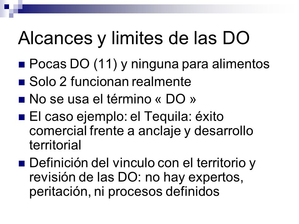 Alcances y limites de las DO