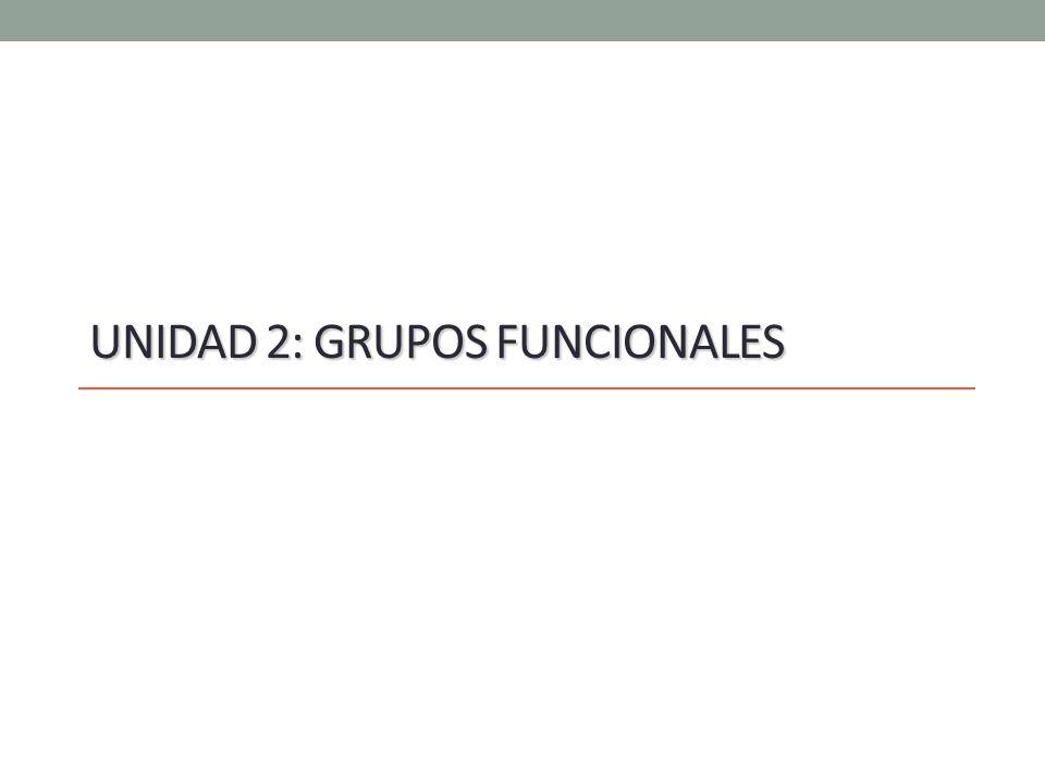 Unidad 2: Grupos Funcionales
