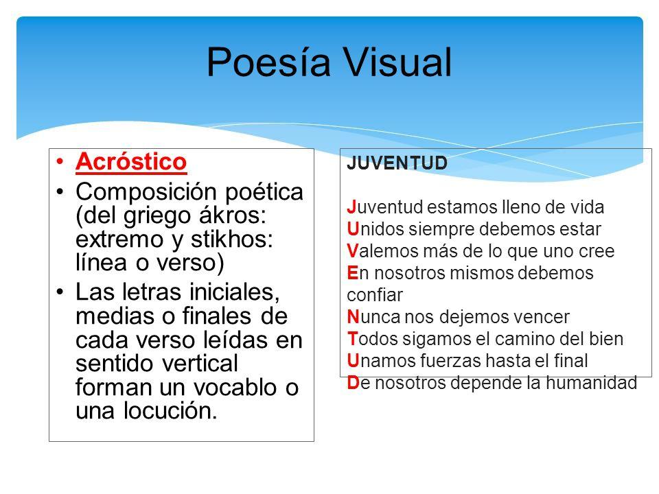 Poesía Visual Ppt Descargar