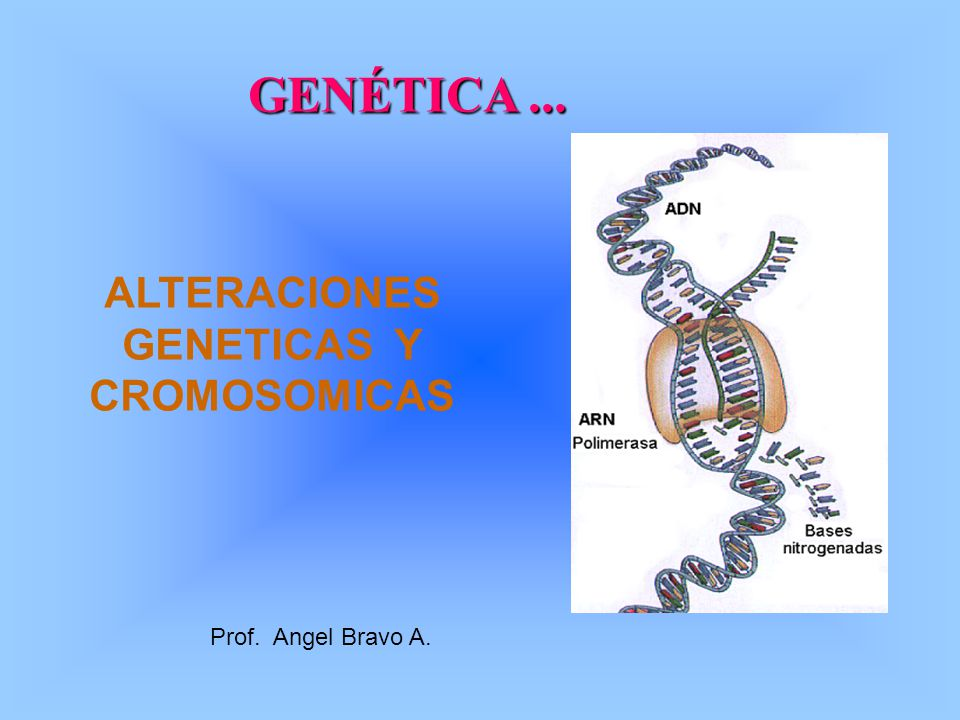 ALTERACIONES GENETICAS Y CROMOSOMICAS