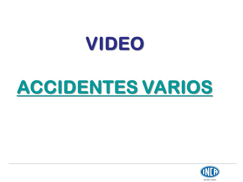 VIDEO ACCIDENTES VARIOS