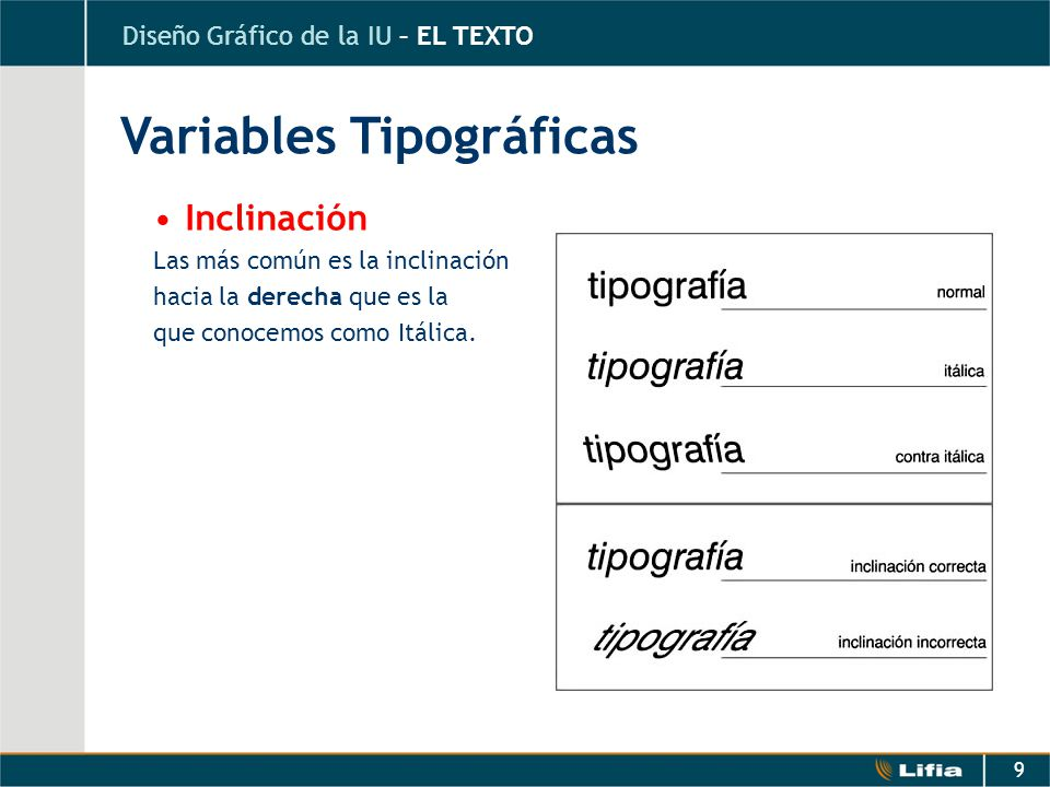 Variables Tipográficas